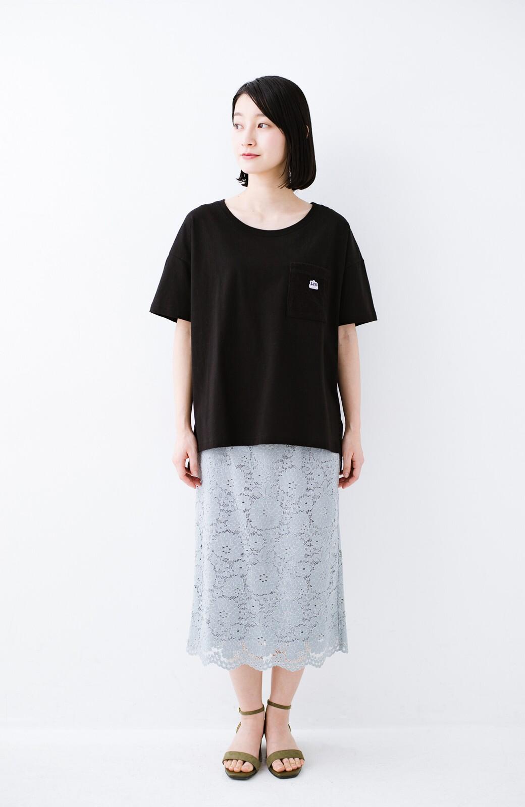 haco! 別注Lee パイルポケットTシャツ <ブラック>の商品写真8