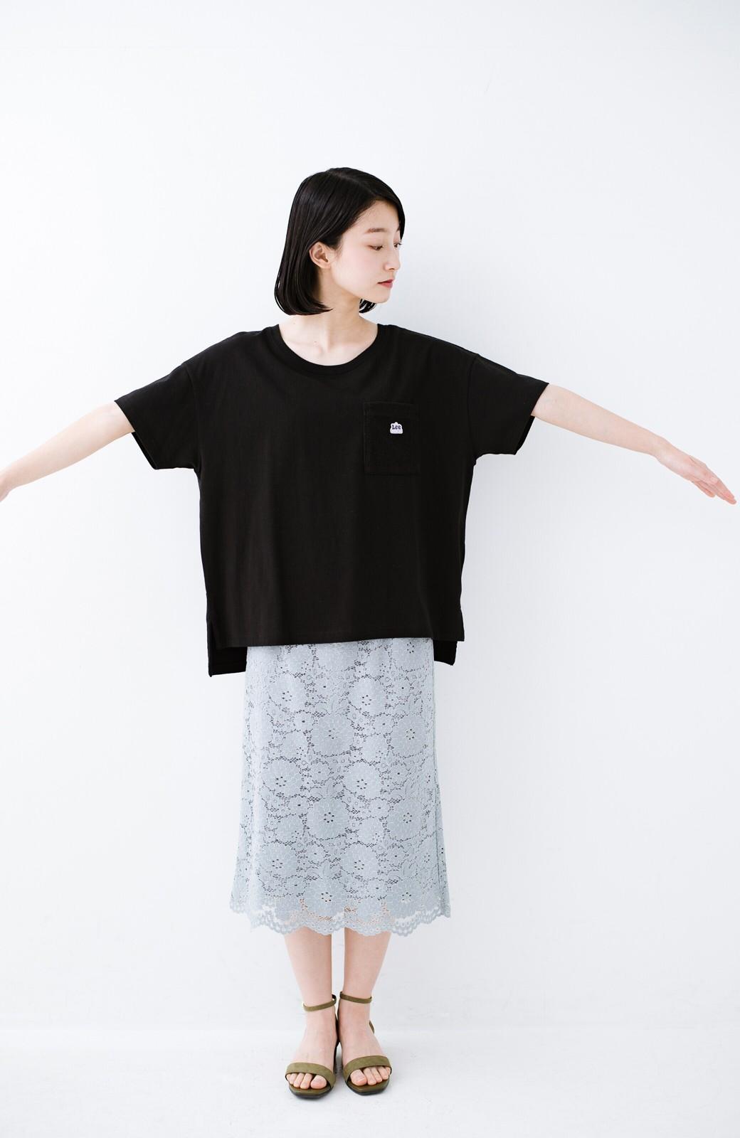 haco! 別注Lee パイルポケットTシャツ <ブラック>の商品写真9