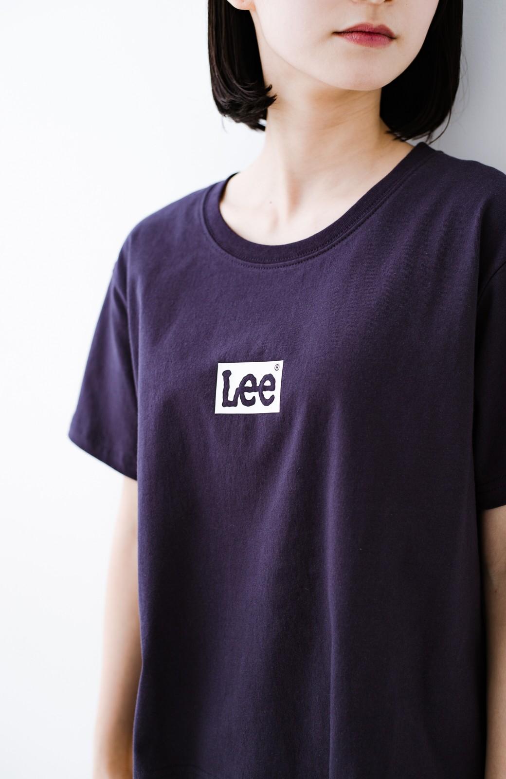 haco! 別注Lee ボックスロゴTシャツ <ネイビー>の商品写真3
