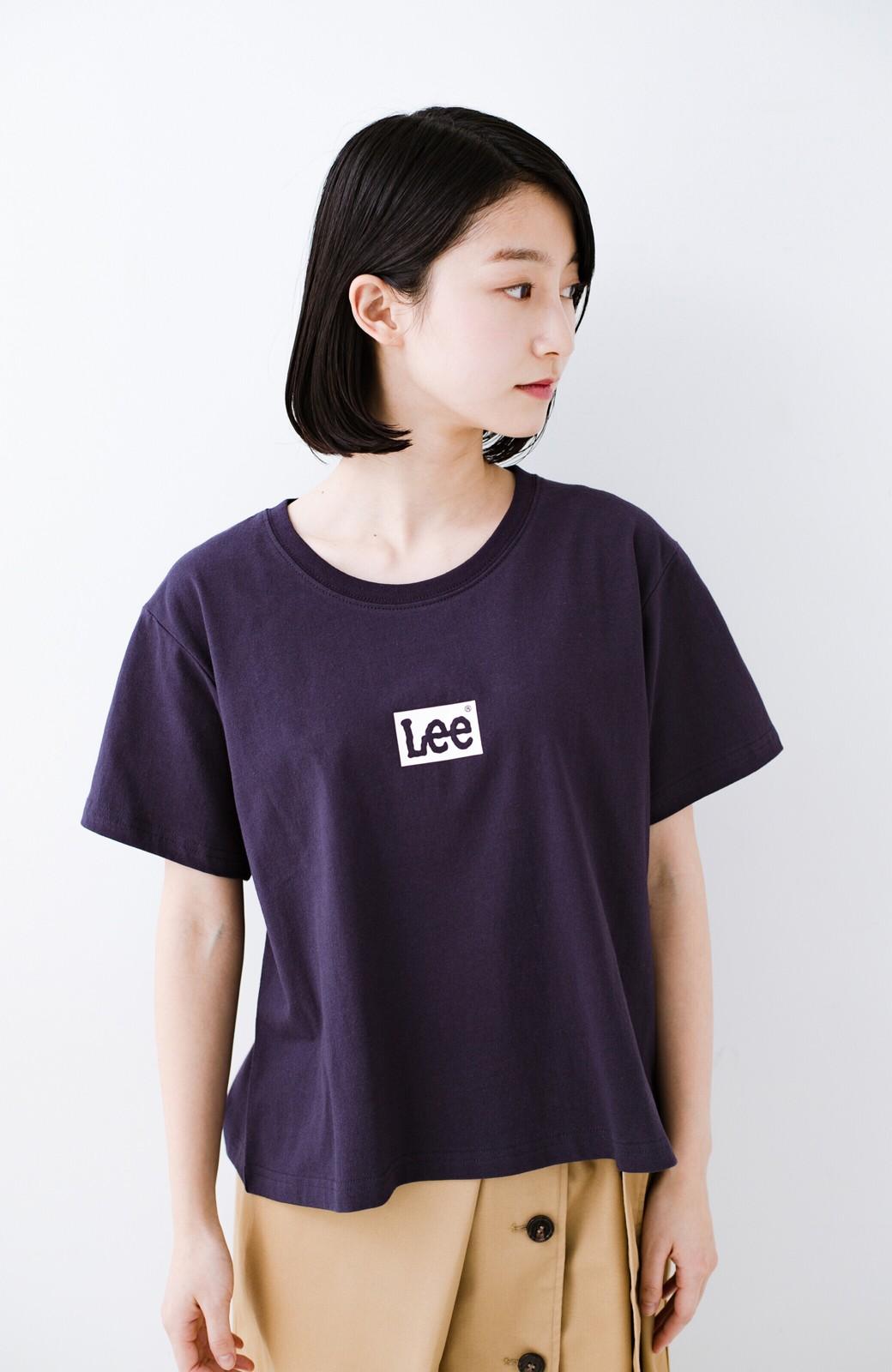 haco! 別注Lee ボックスロゴTシャツ <ネイビー>の商品写真2