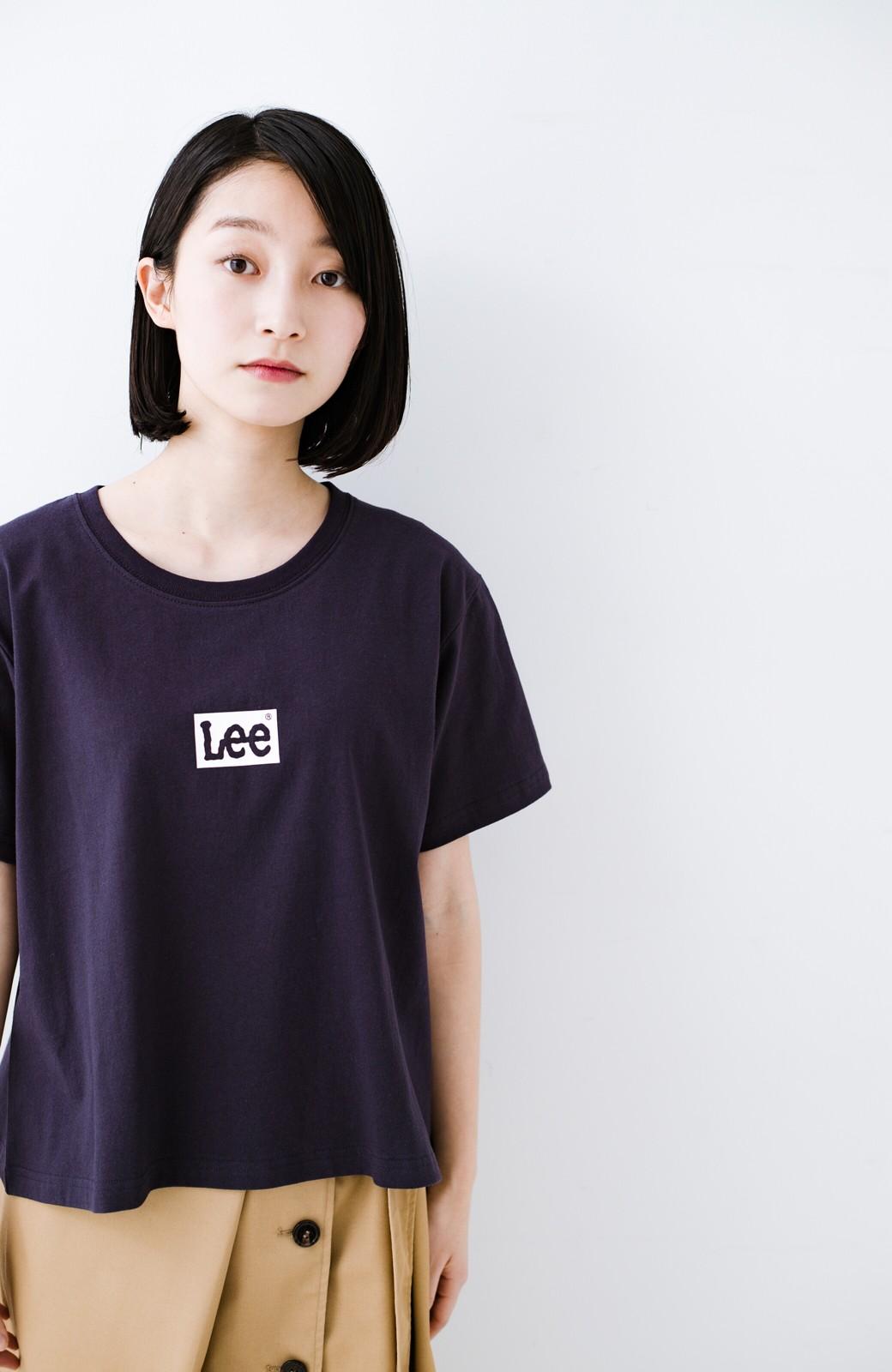 haco! 別注Lee ボックスロゴTシャツ <ネイビー>の商品写真7