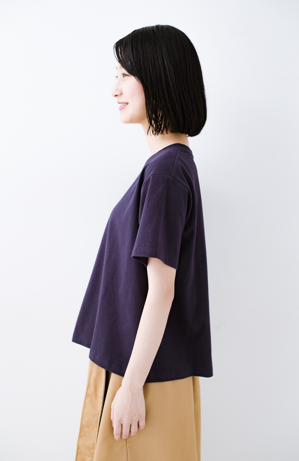 haco! 別注Lee ボックスロゴTシャツ <ネイビー>の商品写真8