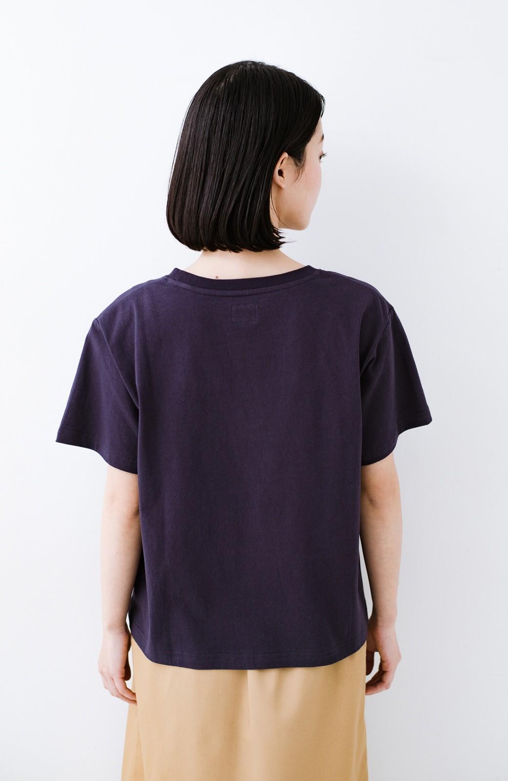 haco! 別注Lee ボックスロゴTシャツ <ネイビー>の商品写真9