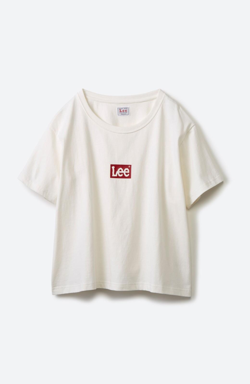 haco! 別注Lee ほどよいゆとりシルエットのボックスロゴTシャツ <ホワイト×レッド>の商品写真2
