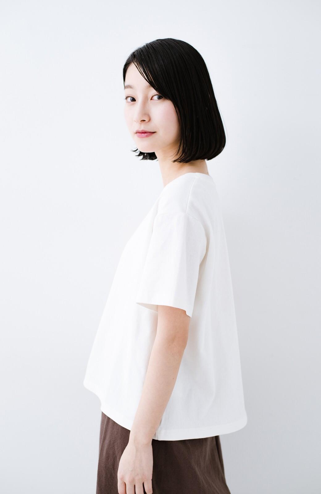 haco! 別注Lee ほどよいゆとりシルエットのボックスロゴTシャツ <ホワイト×レッド>の商品写真9