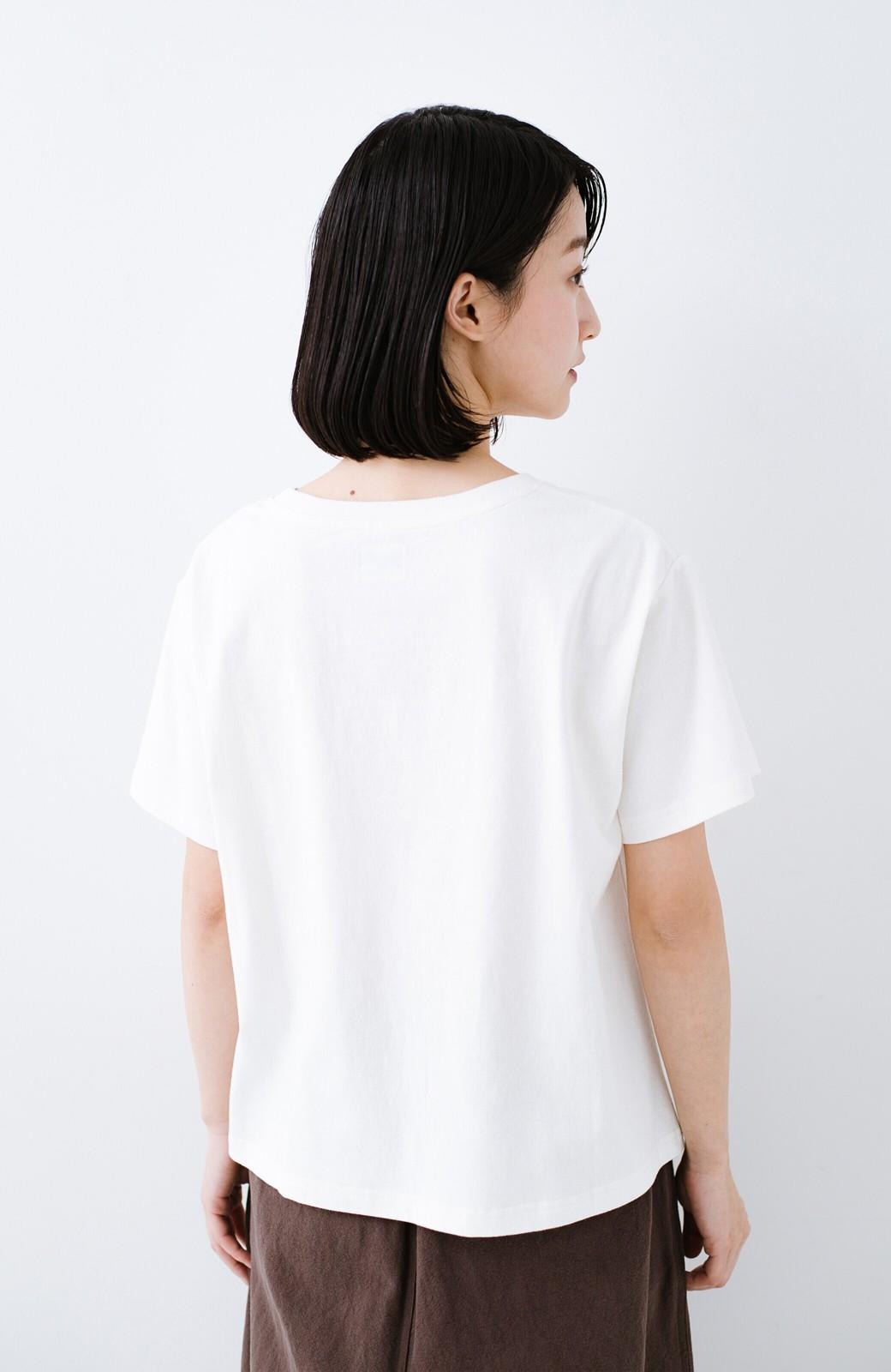 haco! 別注Lee ほどよいゆとりシルエットのボックスロゴTシャツ <ホワイト×レッド>の商品写真10