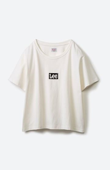 haco! 別注Lee ほどよいゆとりシルエットのボックスロゴTシャツ <ホワイト×ブラック>の商品写真