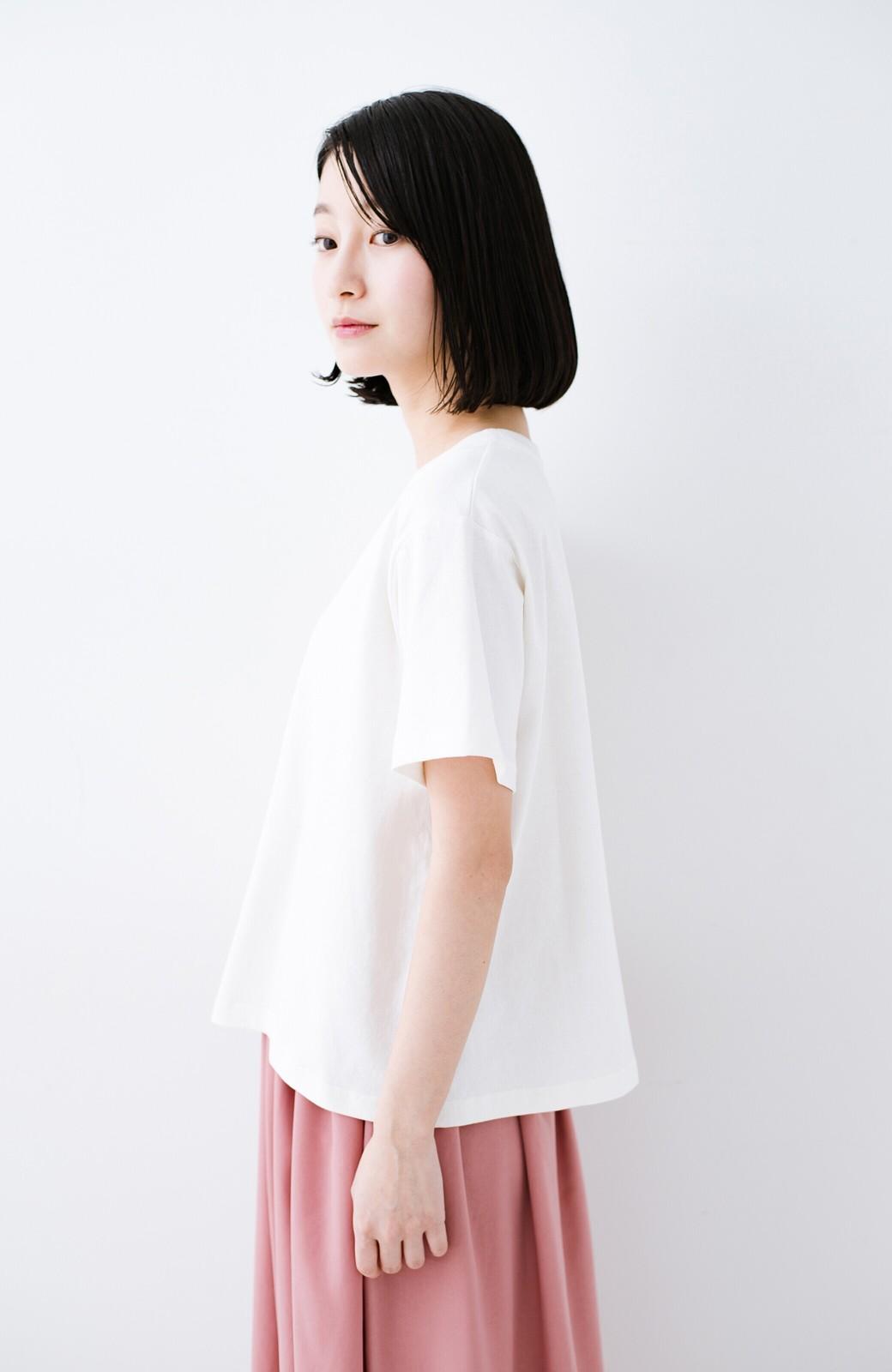 haco! 別注Lee ほどよいゆとりシルエットのボックスロゴTシャツ <ホワイト×ブラック>の商品写真9
