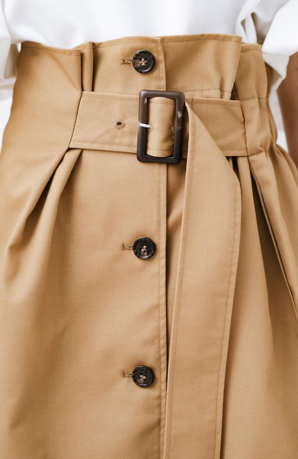 haco! シンプルトップスに合わせても素敵に見える 女っぽフレアーロングスカート <ベージュ>の商品写真6