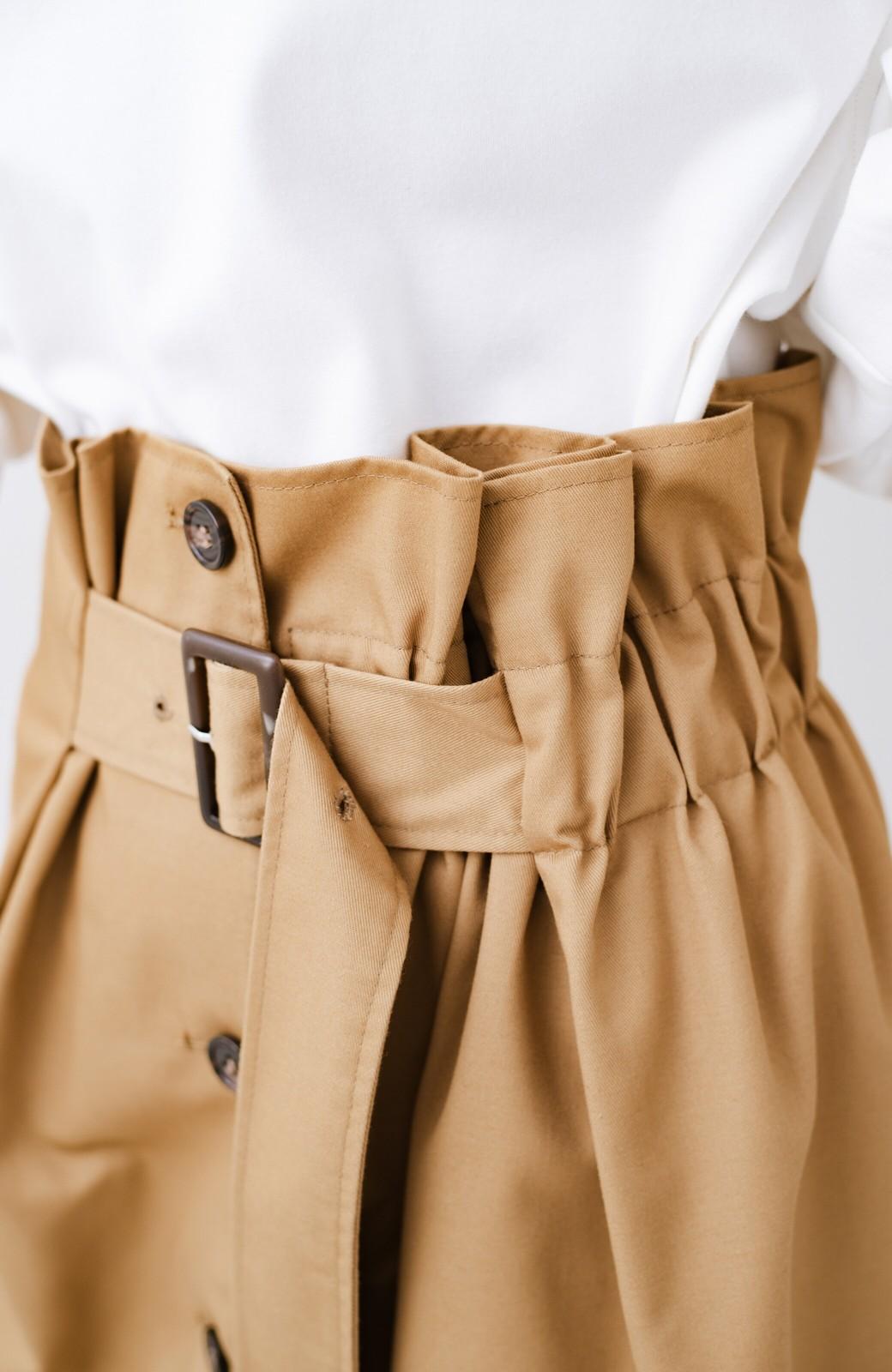 haco! シンプルトップスに合わせても素敵に見える 女っぽフレアーロングスカート <ベージュ>の商品写真7