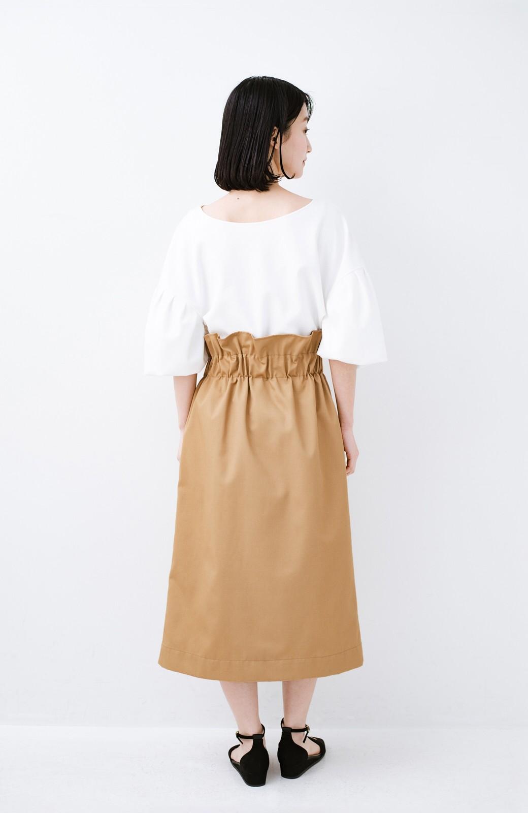 haco! シンプルトップスに合わせても素敵に見える 女っぽフレアーロングスカート <ベージュ>の商品写真12