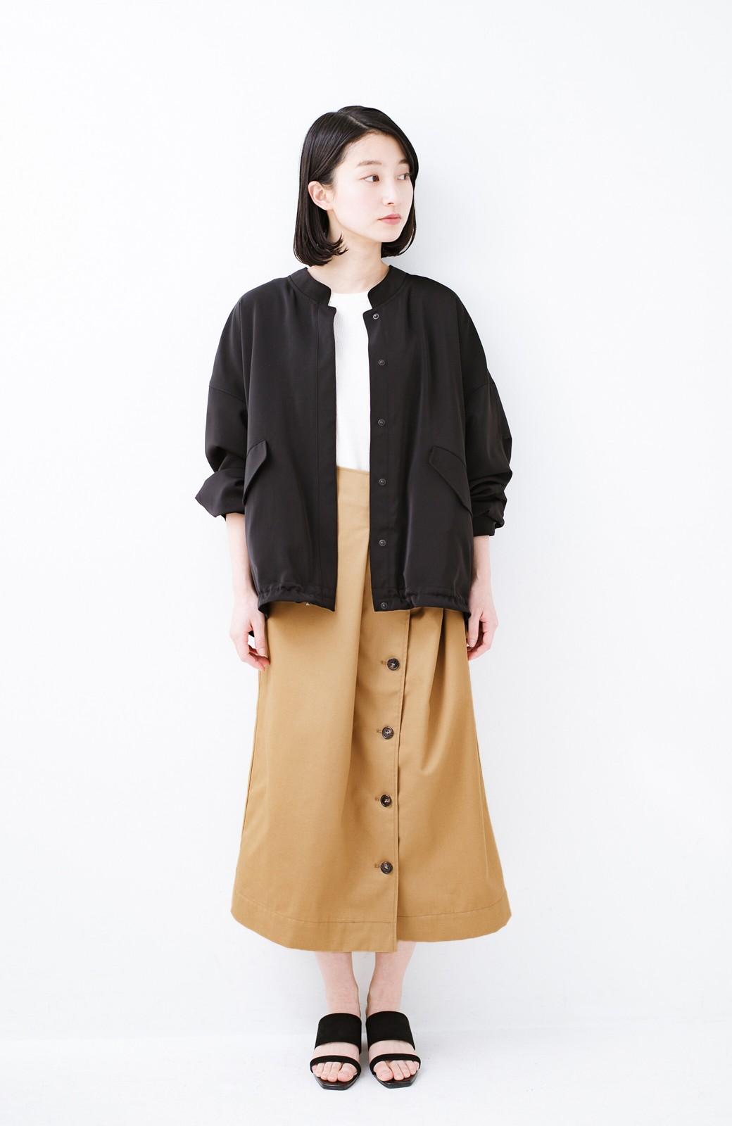 haco! シンプルトップスに合わせても素敵に見える 女っぽフレアーロングスカート <ベージュ>の商品写真10