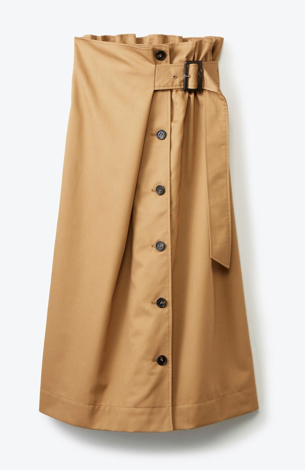 haco! シンプルトップスに合わせても素敵に見える 女っぽフレアーロングスカート <ベージュ>の商品写真2