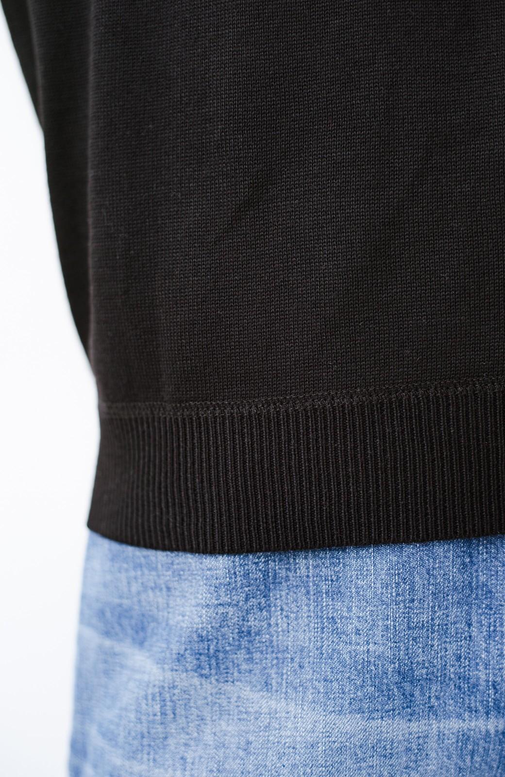 haco! 【今年も再販!】カットソーのかわりに着たい 便利な洗えるニット by que made me <ブラック>の商品写真5