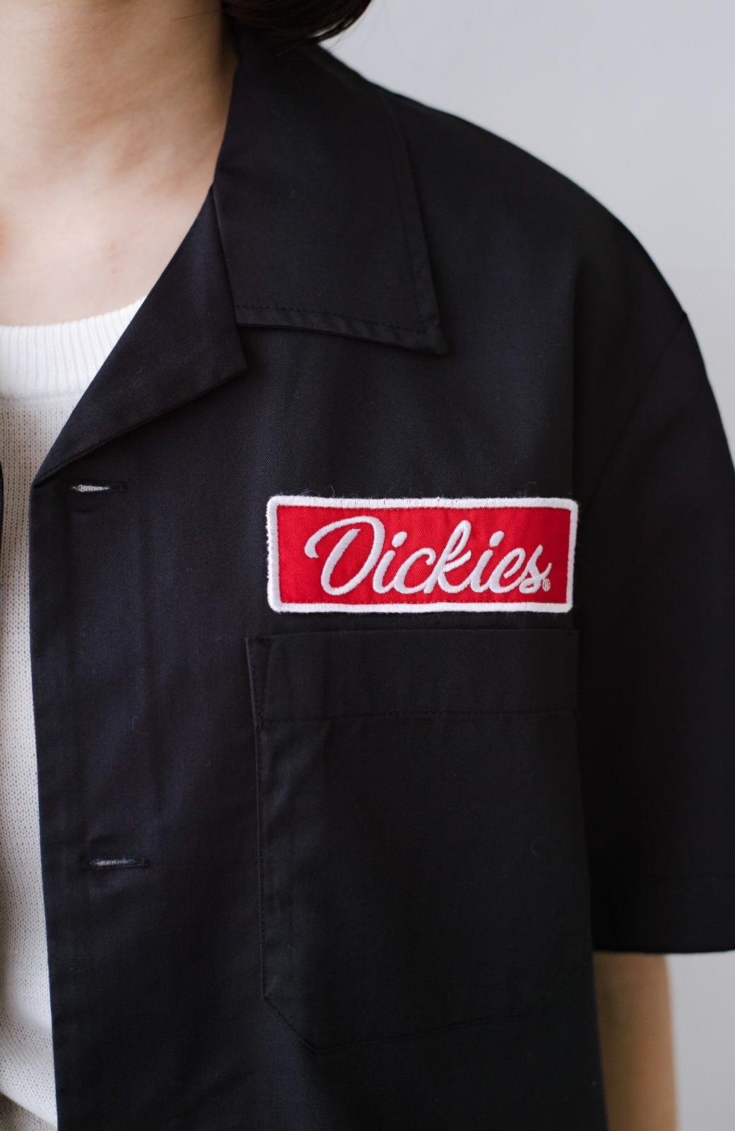 haco! Dickies TCツイルワッペン付きオープンカラーシャツ <ネイビー>の商品写真5