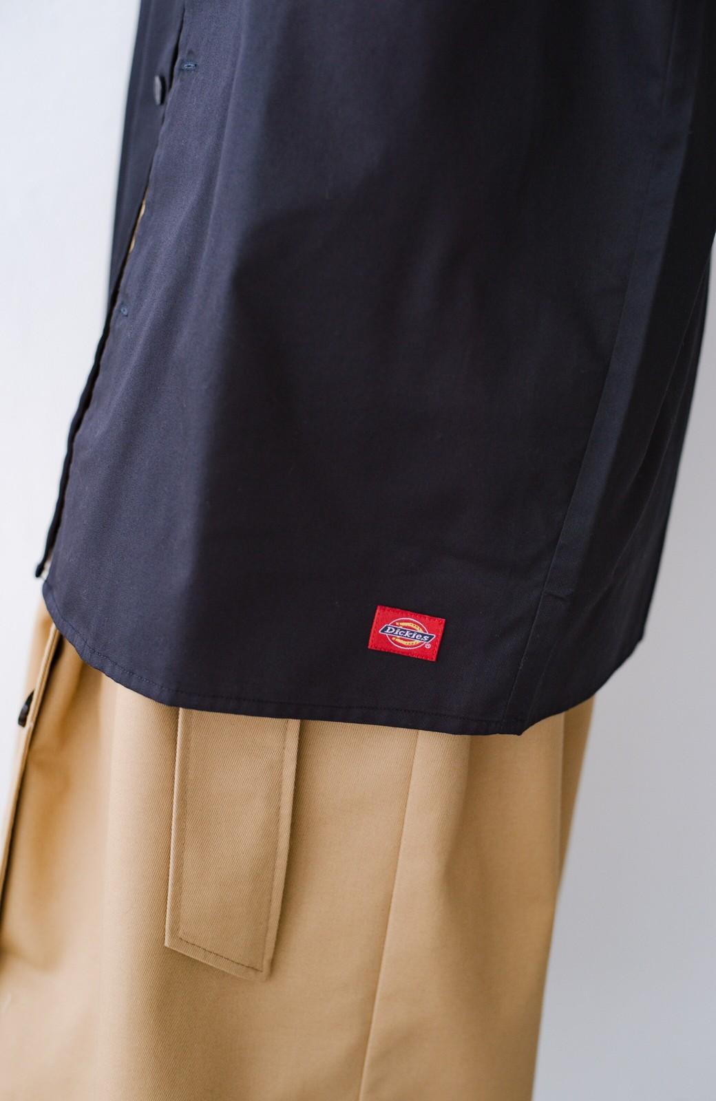 haco! Dickies TCツイルワッペン付きオープンカラーシャツ <ネイビー>の商品写真6