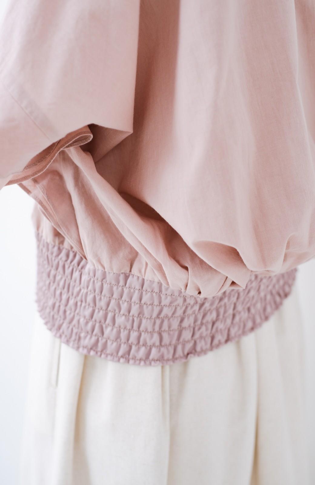 haco! ふんわりシルエットで女っぽ レース&異素材づかいブラウス <ピンク>の商品写真7