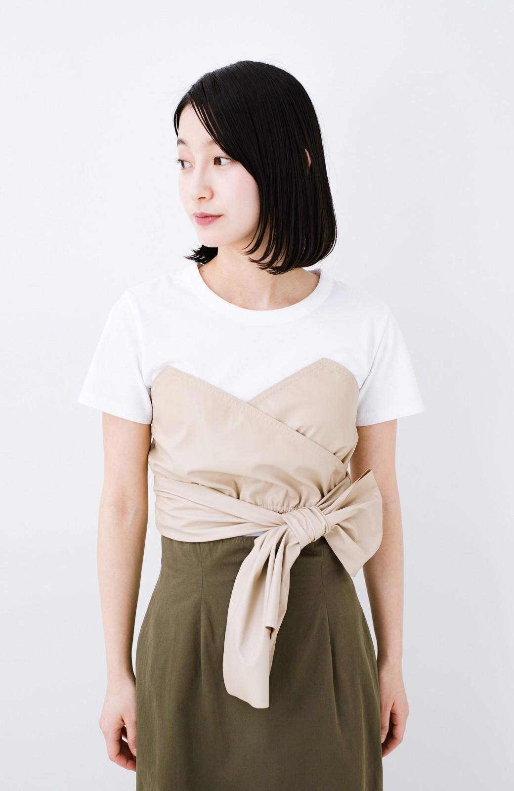 haco! Tシャツを女っぽく着こなせるオトナセットbyMAKORI <ホワイト>の商品写真5