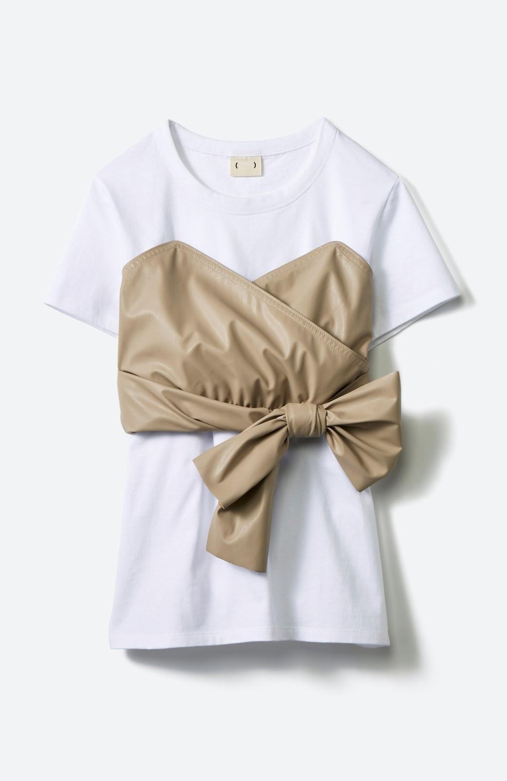 haco! Tシャツを女っぽく着こなせるオトナセットbyMAKORI <ホワイト>の商品写真2