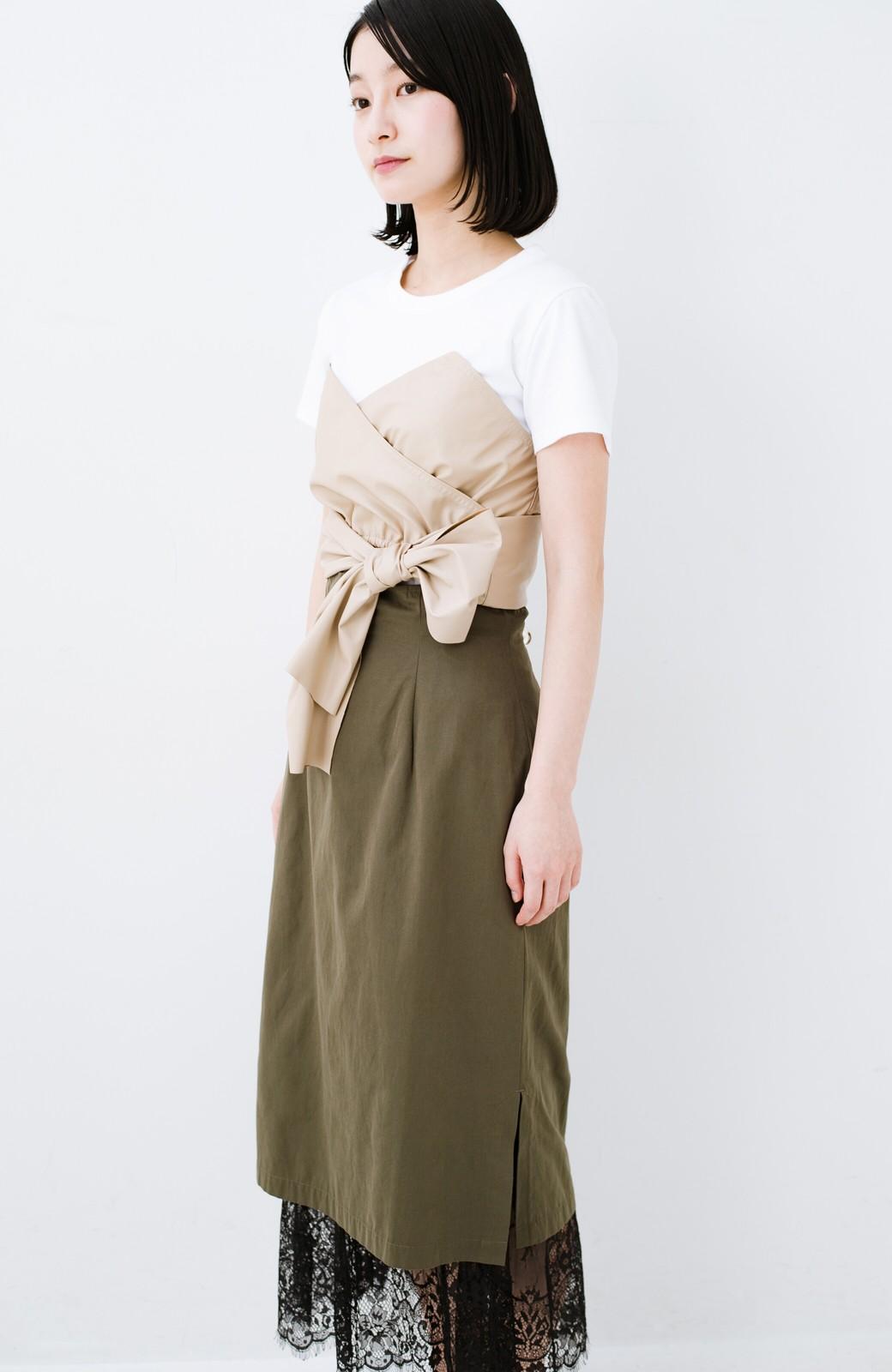haco! Tシャツを女っぽく着こなせるオトナセットbyMAKORI <ホワイト>の商品写真11