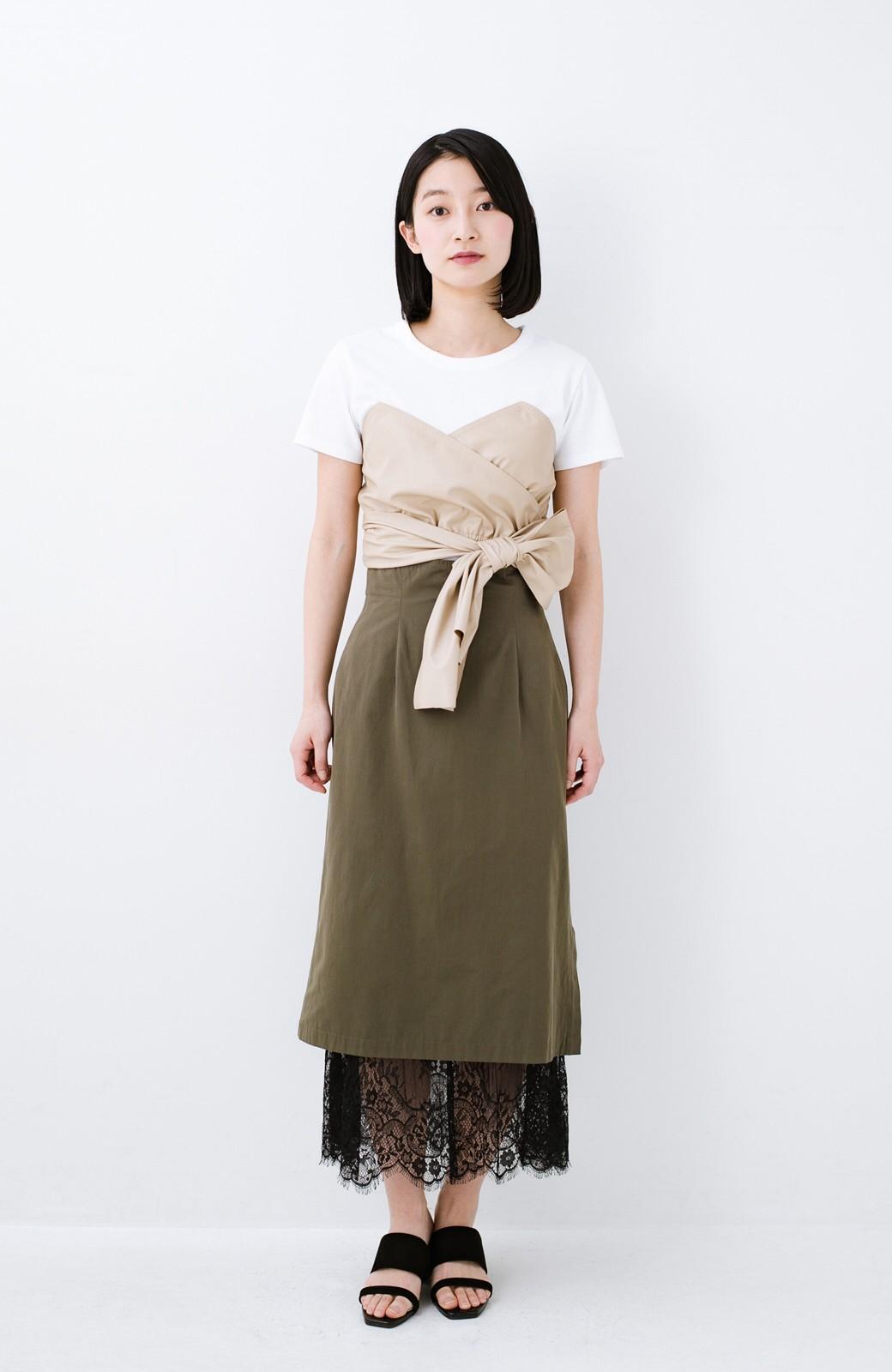 haco! Tシャツを女っぽく着こなせるオトナセットbyMAKORI <ホワイト>の商品写真6