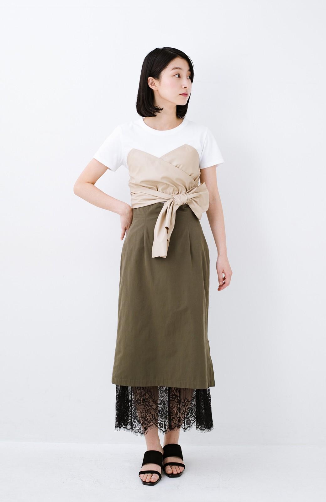 haco! Tシャツを女っぽく着こなせるオトナセットbyMAKORI <ホワイト>の商品写真7