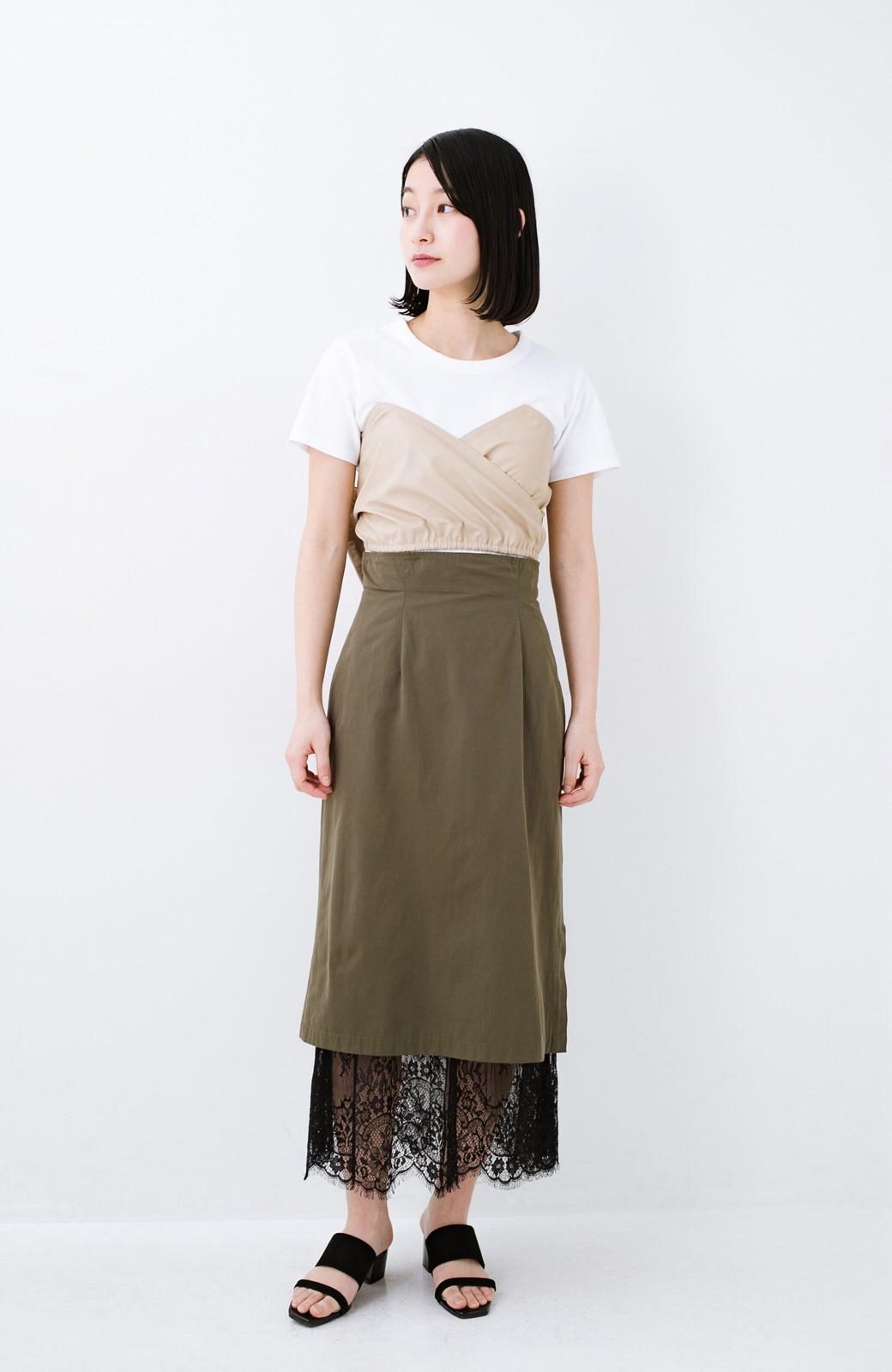 haco! Tシャツを女っぽく着こなせるオトナセットbyMAKORI <ホワイト>の商品写真8