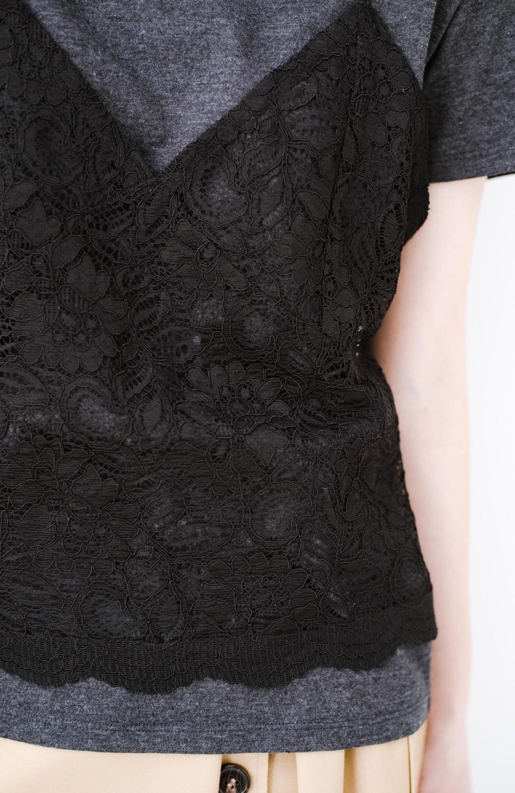 haco! Tシャツを女っぽく着こなせるオトナセットbyMAKORI <チャコールグレー>の商品写真5
