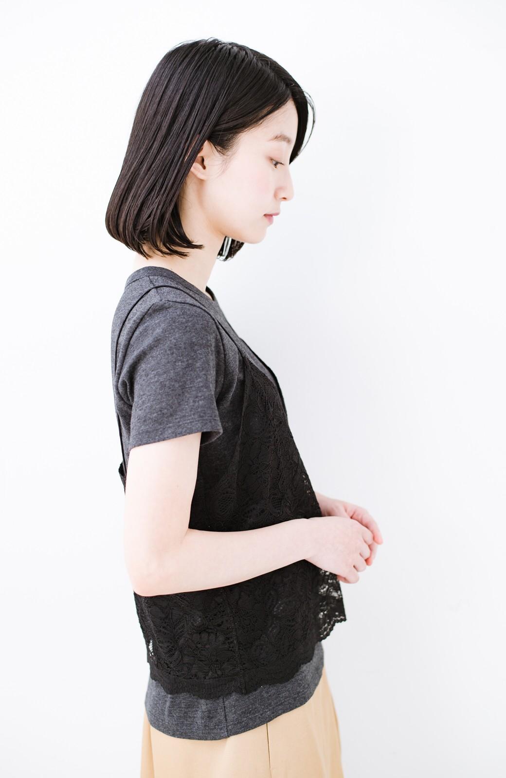 haco! Tシャツを女っぽく着こなせるオトナセットbyMAKORI <チャコールグレー>の商品写真13