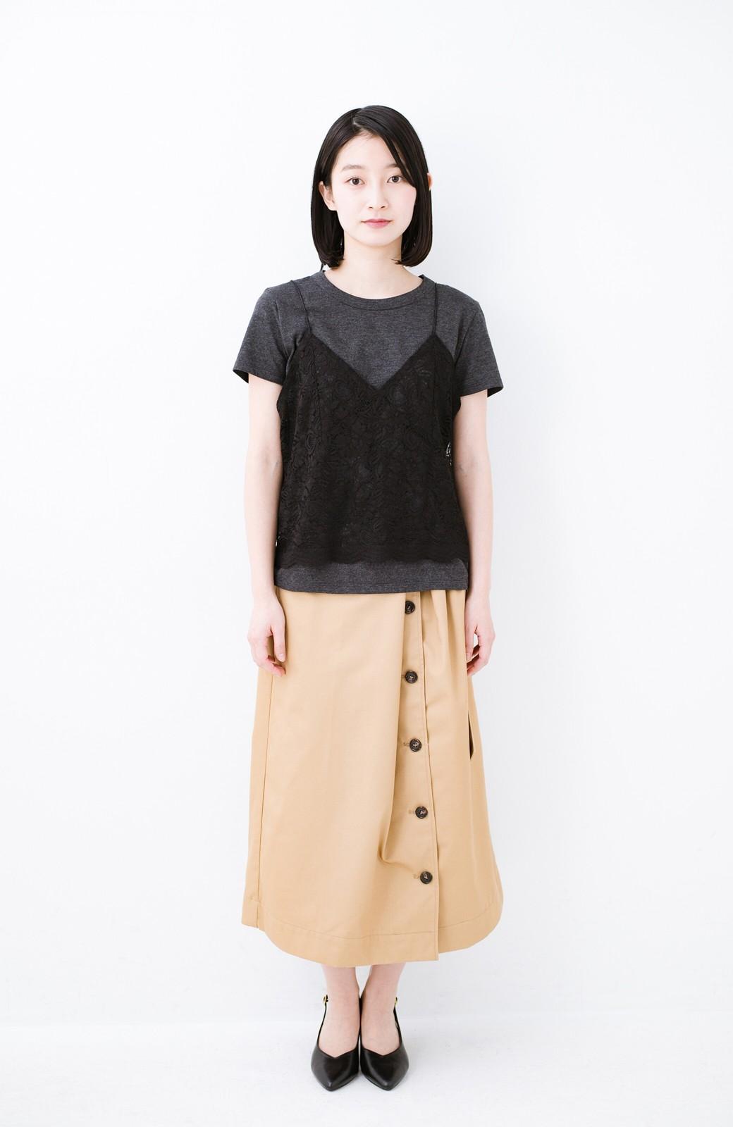 haco! Tシャツを女っぽく着こなせるオトナセットbyMAKORI <チャコールグレー>の商品写真7