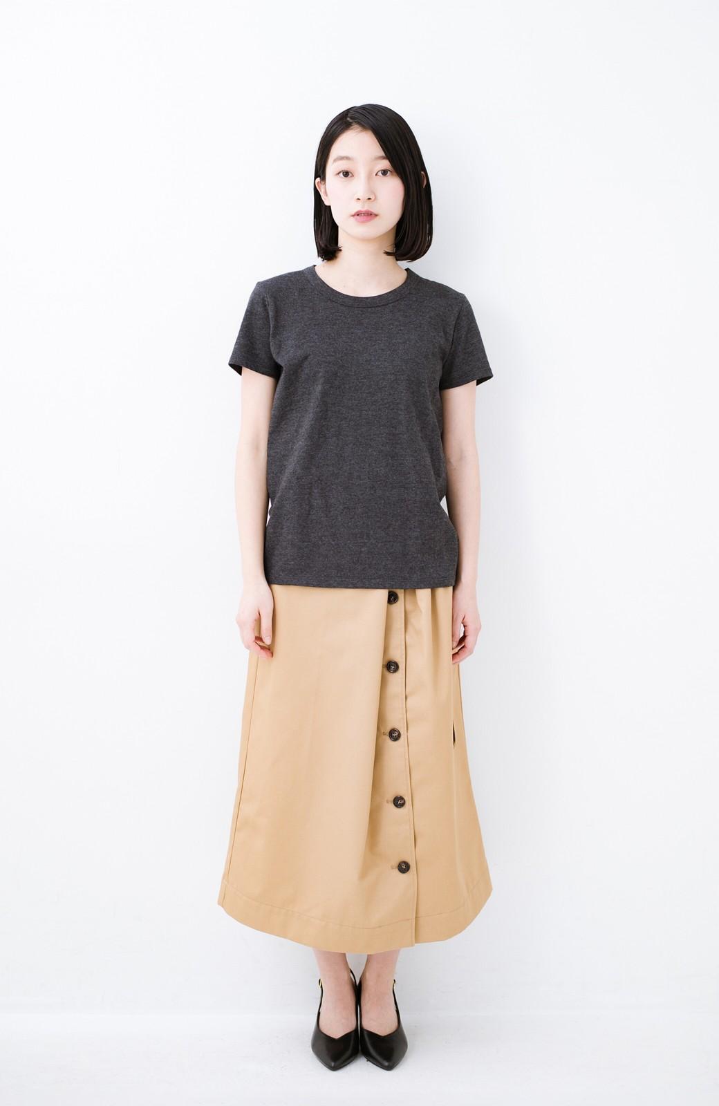 haco! Tシャツを女っぽく着こなせるオトナセットbyMAKORI <チャコールグレー>の商品写真8