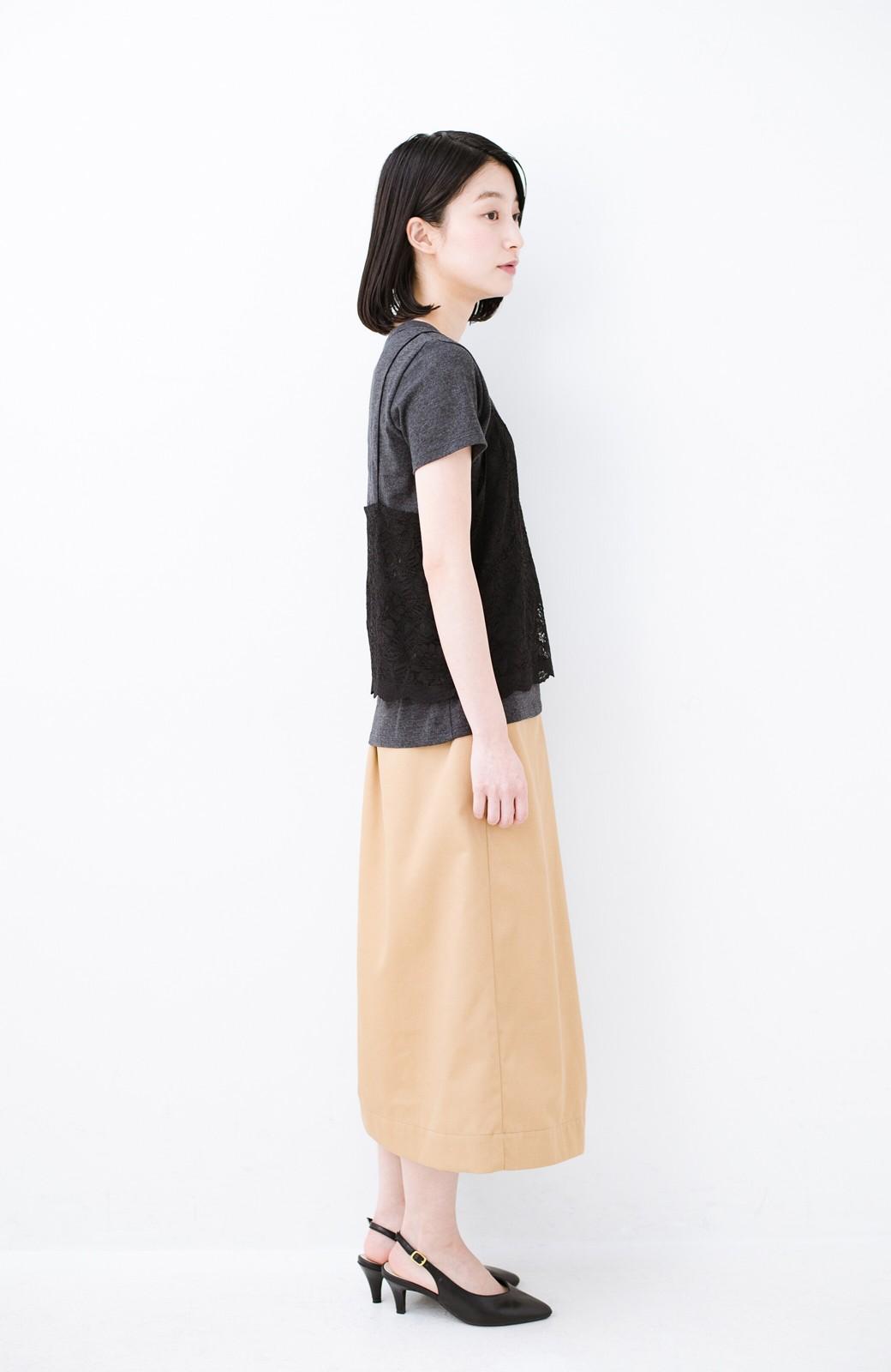 haco! Tシャツを女っぽく着こなせるオトナセットbyMAKORI <チャコールグレー>の商品写真10