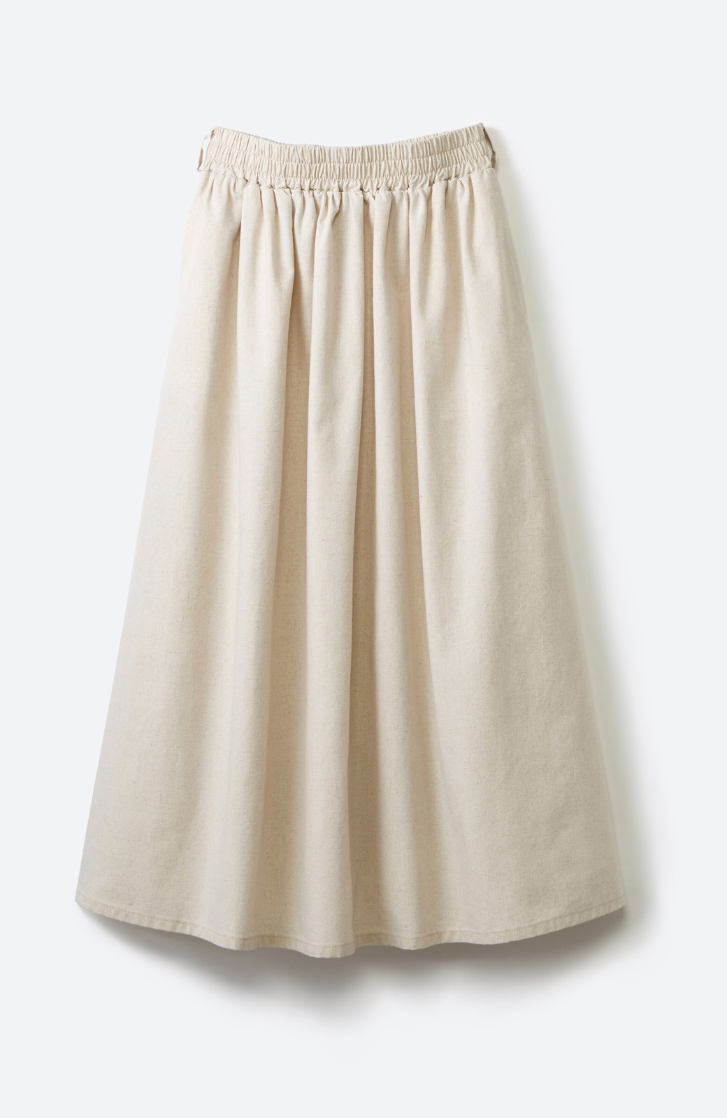 haco! 楽してスタイルが決まる 涼やか麻混スカート <ベージュ>の商品写真2