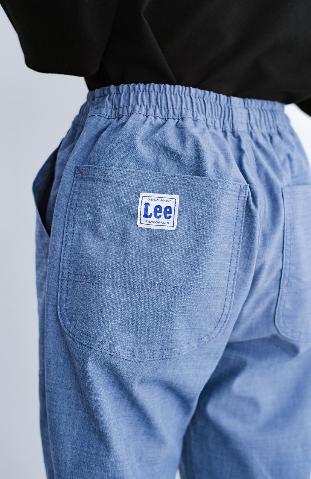 haco! Lady Lee シャンブレー素材のらくちんイージーパンツ <ブルー>の商品写真6