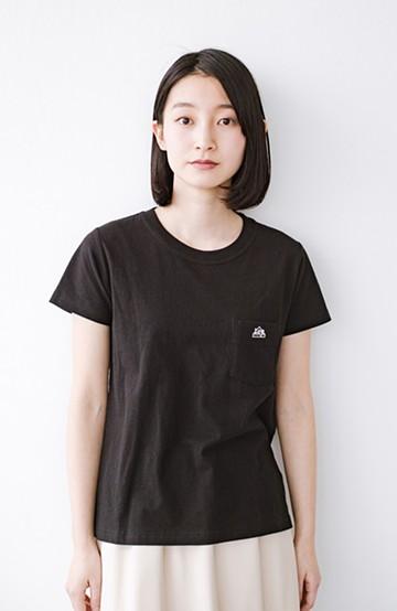 haco! Lady Lee ポケット付きコンパクトフィットTシャツ <ブラック>の商品写真