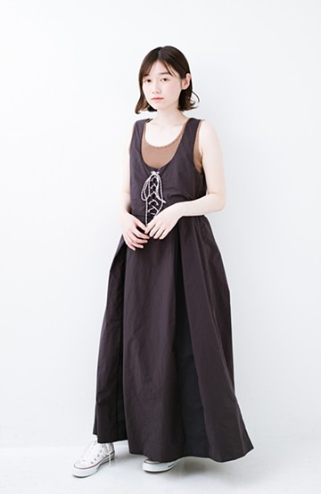 haco! F/CE.(エフシーイー) RACE UP DRESS <ブラック>の商品写真