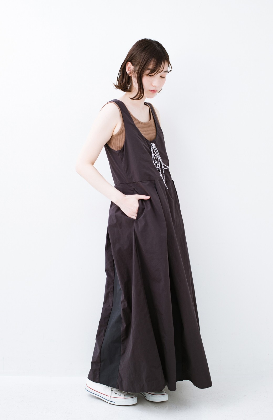 haco! F/CE.(エフシーイー) RACE UP DRESS <ブラック>の商品写真5
