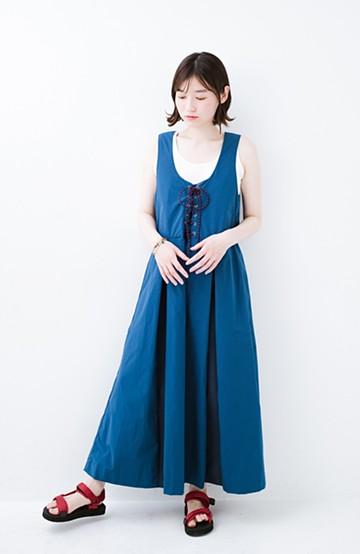 haco! F/CE.(エフシーイー) RACE UP DRESS <ブルー>の商品写真