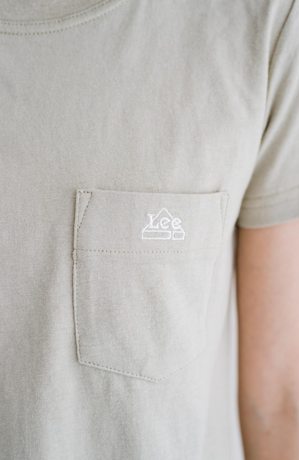 haco! Lady Lee ポケット付きコンパクトフィットTシャツ <ベージュ>の商品写真2