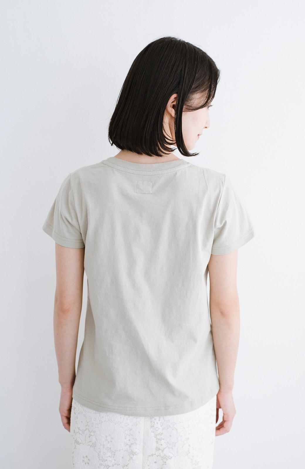 haco! Lady Lee ポケット付きコンパクトフィットTシャツ <ベージュ>の商品写真8