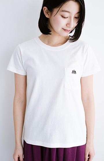 haco! Lady Lee ポケット付きコンパクトフィットTシャツ <オフホワイト>の商品写真
