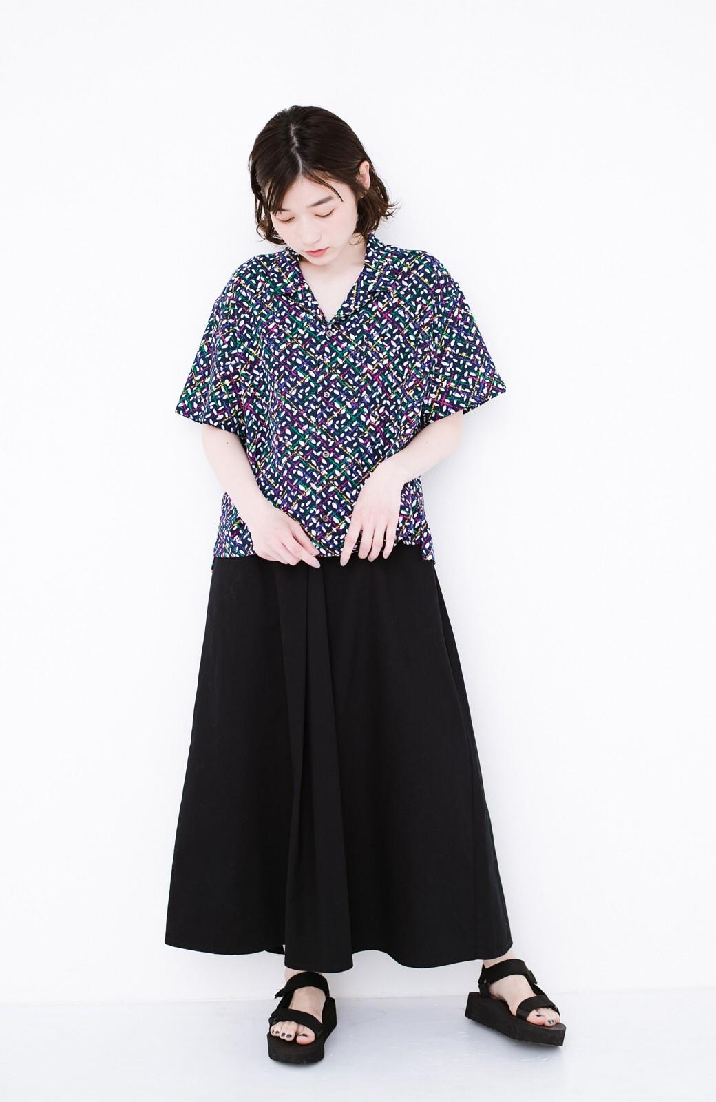 haco! 【今年も再販!】京都の浴衣屋さんと作った浴衣生地のシャツ <ネイビー>の商品写真6