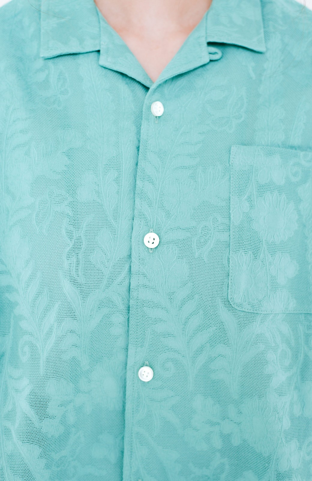 haco! 【今年も再販!】京都の浴衣屋さんと作った浴衣生地のシャツ <グリーン>の商品写真11