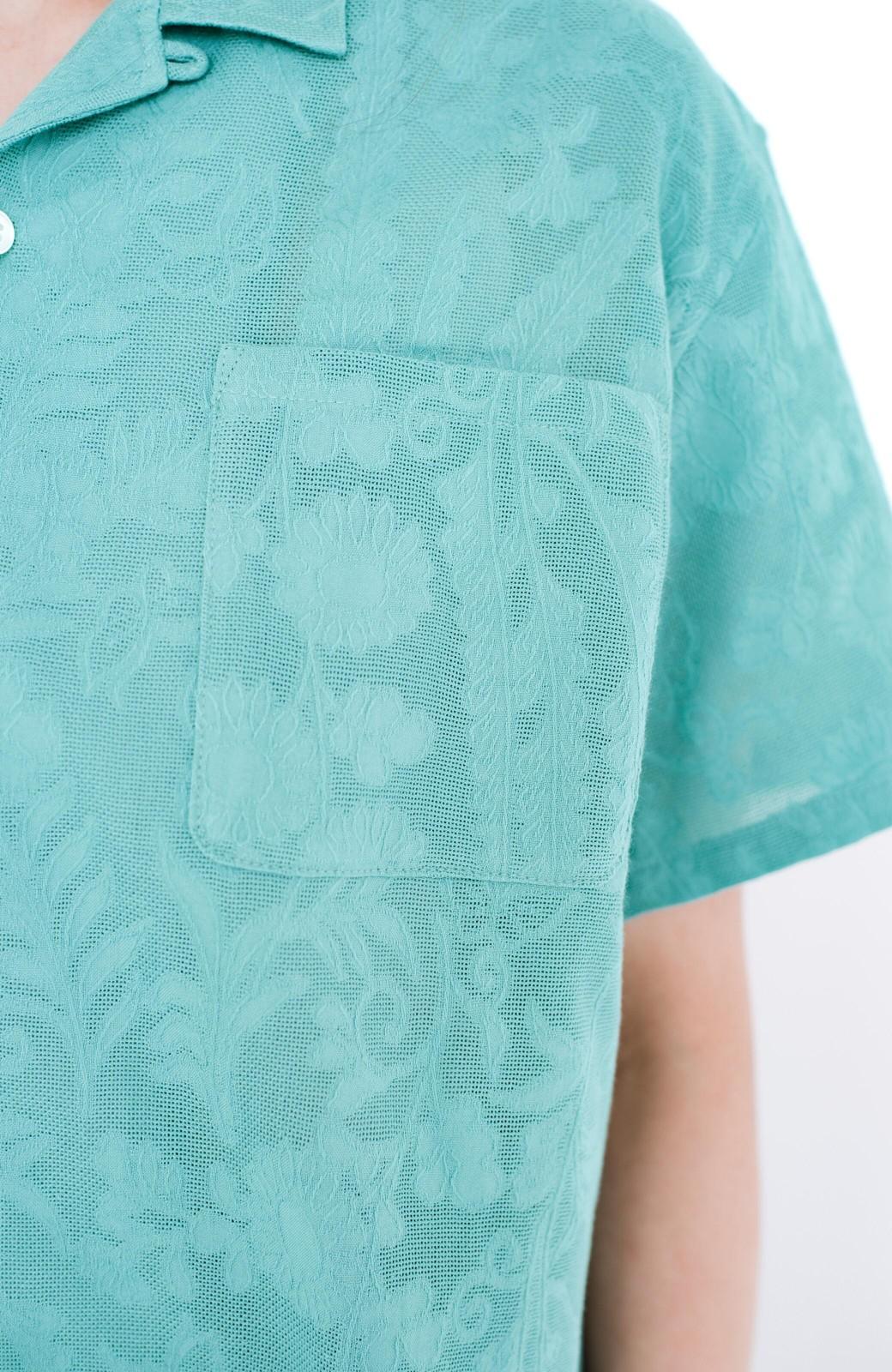 haco! 【今年も再販!】京都の浴衣屋さんと作った浴衣生地のシャツ <グリーン>の商品写真12
