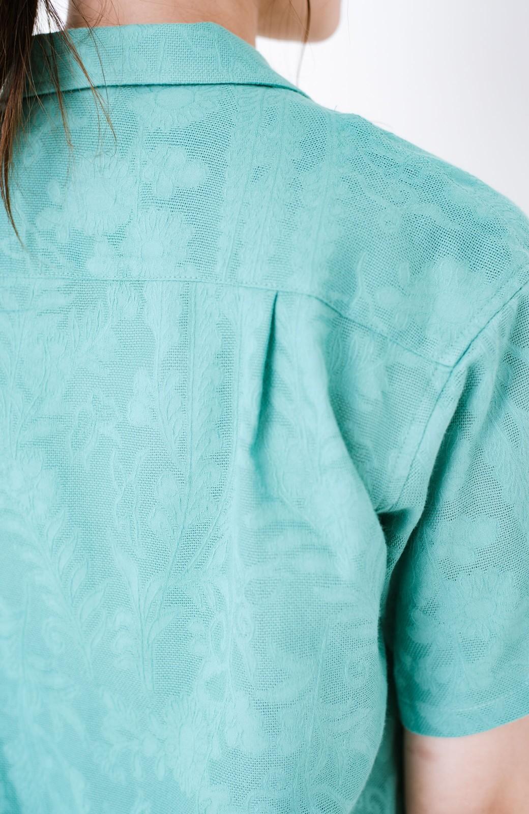 haco! 【今年も再販!】京都の浴衣屋さんと作った浴衣生地のシャツ <グリーン>の商品写真13