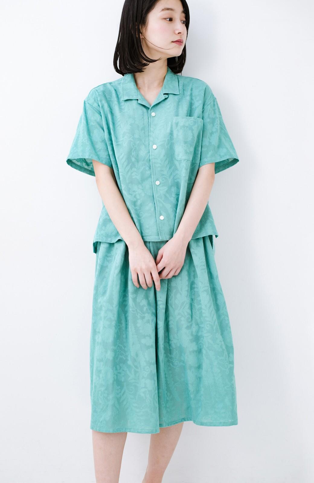 haco! 【今年も再販!】京都の浴衣屋さんと作った浴衣生地のシャツ <グリーン>の商品写真23