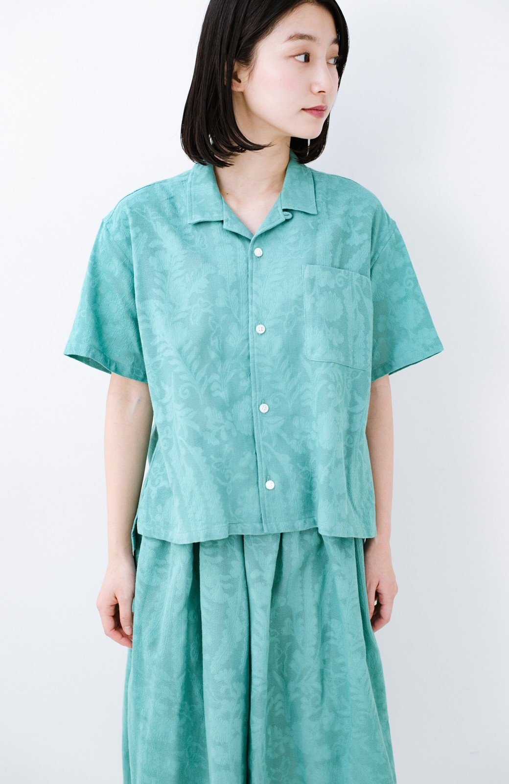 haco! 【今年も再販!】京都の浴衣屋さんと作った浴衣生地のシャツ <グリーン>の商品写真24