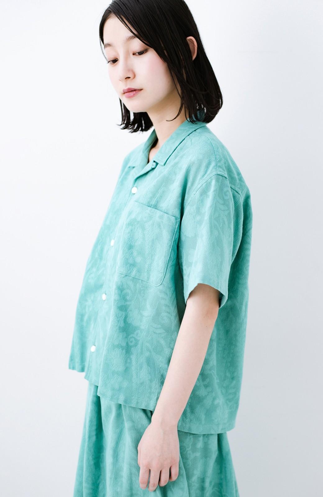 haco! 【今年も再販!】京都の浴衣屋さんと作った浴衣生地のシャツ <グリーン>の商品写真26