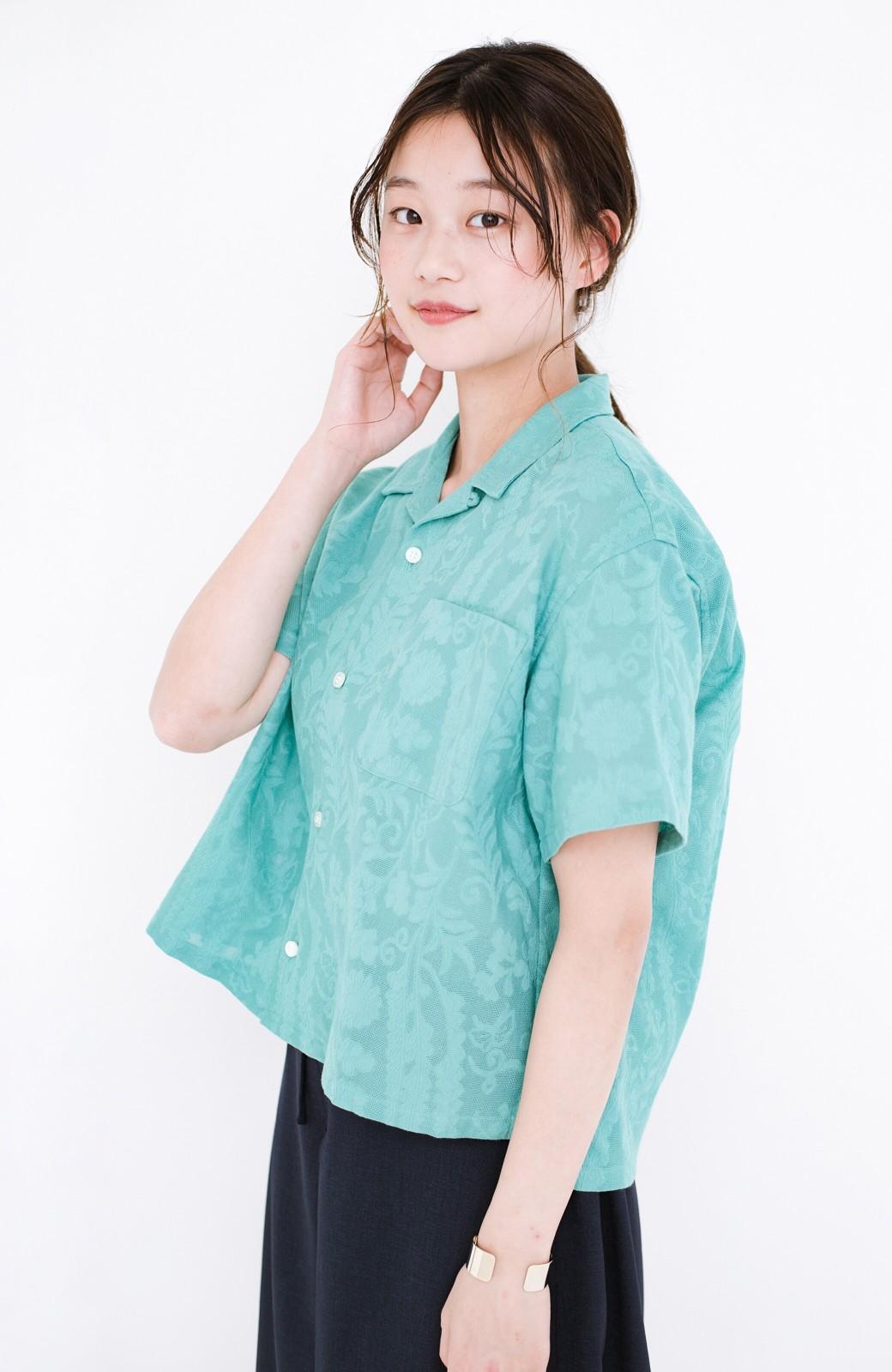 haco! 【今年も再販!】京都の浴衣屋さんと作った浴衣生地のシャツ <グリーン>の商品写真17