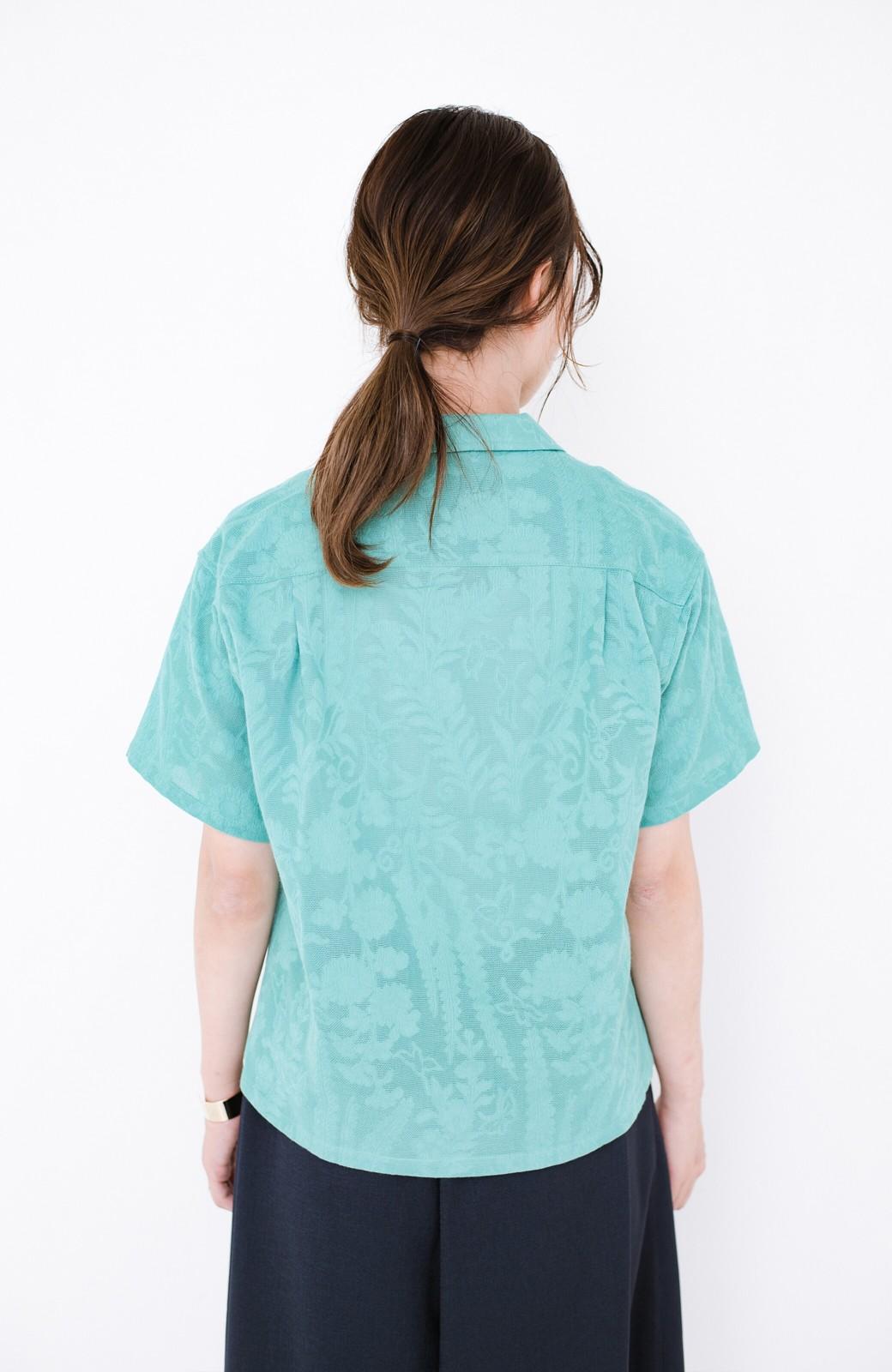 haco! 【今年も再販!】京都の浴衣屋さんと作った浴衣生地のシャツ <グリーン>の商品写真19